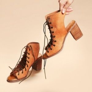Free People Jeffrey Campbell Minimal Lace Up Shoes